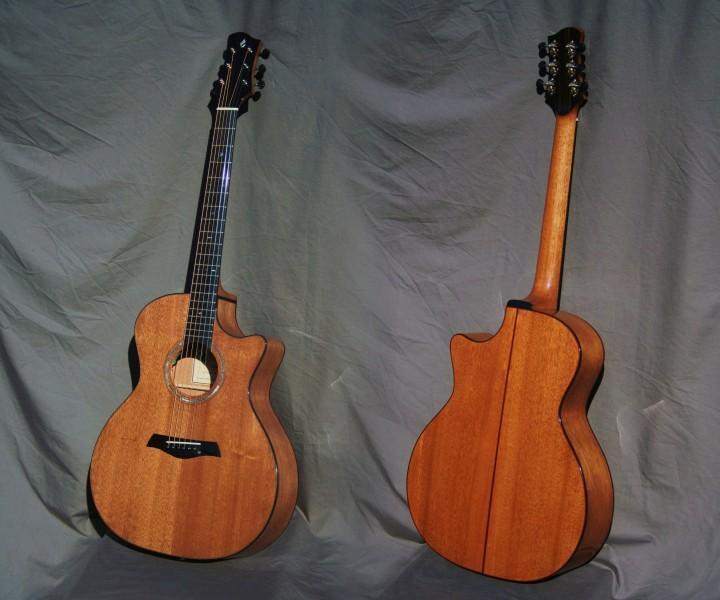guitare acajou grand auditorium pan coupé