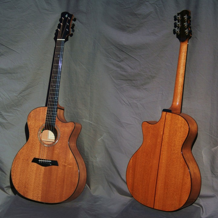 Guitare G.A pan coupé